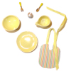 Handcrafted Deluxe Yellow Baby Feeding Set