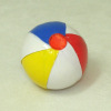 Handcrafted Red Blue Yellow White Beach Ball