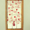 By Barb Handcrafted Valentine Heart Window Shade