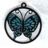 Blue Monarch Butterfly Suncatcher