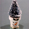 Christmas Tree in Handpainted Snowman Pot