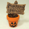 Pumpkin Patch Sign in Halloween Flower Pot