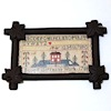 Antique Sampler Print in Rustic Maple Leaf Frame