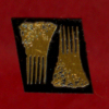 Pair of Ornate Brass Hair Combs