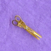 Engraved Brass Filigree Working Dressmaker's Scissors