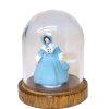 Victorian Lady Doll in Blue Under Glass Dome