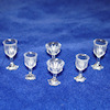 Clear Wine Glass Goblet Stemware Set