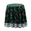 Christmas Table with Holly and Candy Cane Lace Trim Skirt