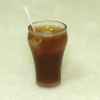 Handcrafted Glass of Cola or Root Beer Soda