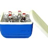 Cooler Filled With Ice and Soda Pop Bottles
