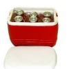 Cooler Filled With Ice and Soda Pop Cans