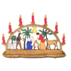 Deluxe Christmas Nativity Candle Bow Decoration