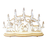 Tiny Nativity Candle Bow Table Decoration