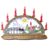 Deluxe Christmas Train Church Candle Bow Decoration