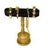Handcrafted Filled Gilded Bracelet Display Stand Black Velvet