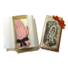 Handcrafted Pink Gloves In Gift Box
