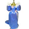 Dress Form with Handcrafted Blue Victorian Dress