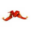 Dolls Cobbler Christmas Elf Boots or Shoes- Red & Gold