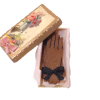Handcrafted Brown Gloves in Gift Box