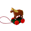 Handcrafted Tiny Wood Horse Pull Toy