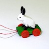 Tiny Easter Bunny Rabbit Pull Toy Artisan Crafted