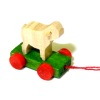 Tiny Handcrafted Wood Easter Lamb Pull Toy
