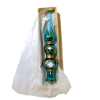 Blown Glass Turquoise Blue Christmas Tree Topper