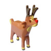 Tiny Miniature Christmas Red Nose Reindeer Decoration