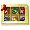Handpainted Christmas Ornaments in Gold Box