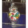 Footed Glass Apothecary Jar with Gumballs