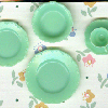 Green Five Piece Diner Place Setting