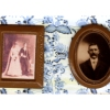 Pair of Victorian Framed Sepia Photos