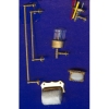 Gilded Bathroom Accessories Set