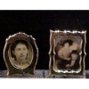Pair of Gold Picture Frames with Victorian Photographs