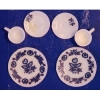 Decorated Blue and White Dinnerware Set