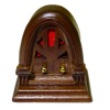 Antique Style Wood Cathedral Table Radio