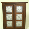 Wood Pie Safe With Punched Heart Design