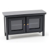 Black TV Stand or Entertainment Center Opening Doors