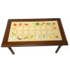 Walnut Kitchen Table With Fruit Decal