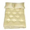 White Satiny Mattress and Pillows Set