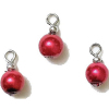 Red Metallic Pearl Christmas Ornaments