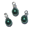 Green Pearl Christmas Ornaments