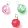 Christmas Crystalline Crackle Ball Ornaments