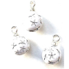 Set of White Starburst Christmas Ornaments.