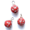 Red and Silver Star Christmas Ball Ornaments.