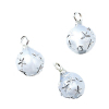 Set of Pearly Silver Star Ball Christmas Ornaments.