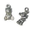 Silver Metal Teddy Bear Christmas Ornaments