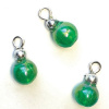 Set of Emerald Green Pearl Christmas Ball Ornaments