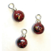Set of Burgundy Splatter Christmas Ornaments