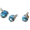 Turquoise Silver Rings Christmas Ornaments